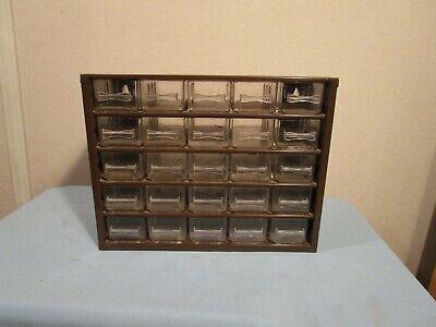Vintage 25 Drawer Brown Raaco Metal Storage Cabinet Organizer