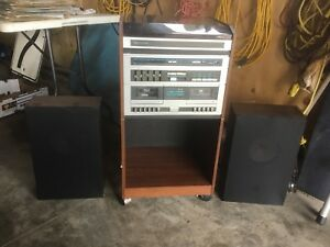 Vintage Sears AM FM,Record Player,Tape Deck Stereo System
