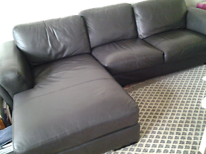 Leather Lounge With Chaise Bondi Beach Eastern Suburbs Preview