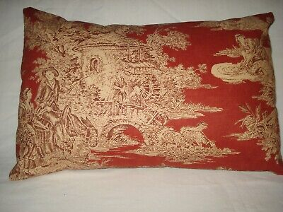 Waverly Wellington Toile Lumbar Decorative Accent Throw Pillow Cover Toile 11x17 17 Decorative Throw Pillow Covers