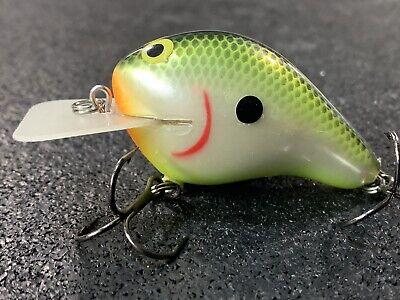 Greenfish Tackle Custom Balsa Squarebill Crankbait Orange Craw FAT G2