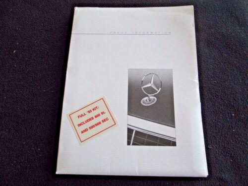 1993 Mercedes Press Kit 500SEC 600SL 400SEL 190E 300CE Conv 500SL Media Brochure