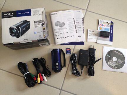 Sony Handycam HDR-CX110E Video Camera and accessories