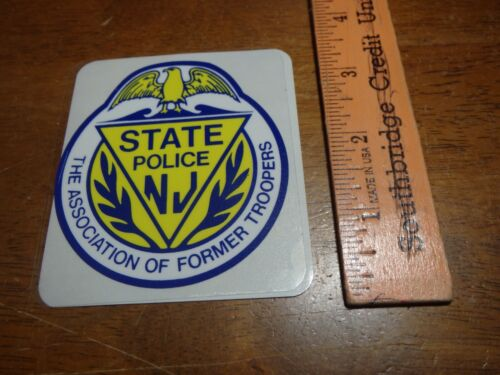 NEW JERSEY STATE POLICE FORMER TROOPER ASSOC   DECAL STICKER STATE HIGHWAY PA