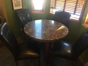 Marble table chairs dinette dinner high end