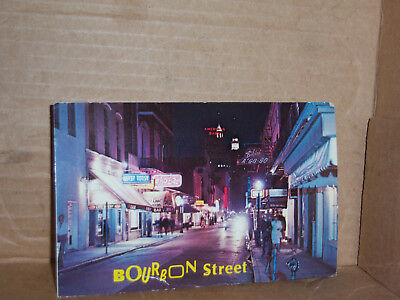 Boubon Street New Orleans LA sent post card on 1969 with no stamp.