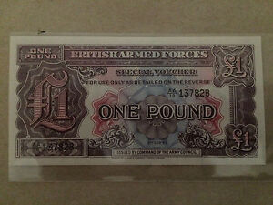 1948 UNC 1£ UK Armed Force 1 pound