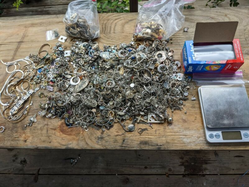 one half pound of mixed sterling silver