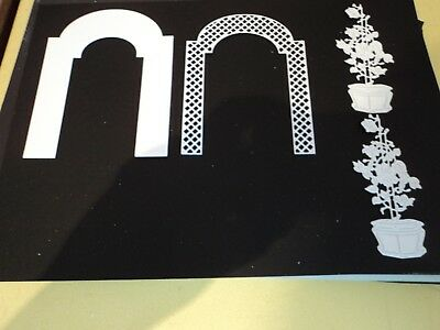 TATTERED LACE IVY ARBOR DIE CUTS X 6 SETS (24  DIE CUT PIECES  IN TOTAL) WHITE