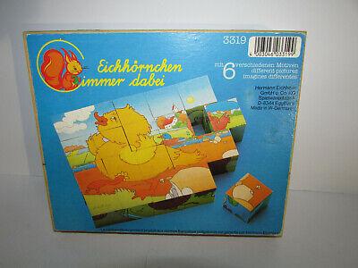 Make Wooden Puzzle (Vintage German Wooden Block PUZZLE 3-D Pieces Makes 6 Different Classic Images )