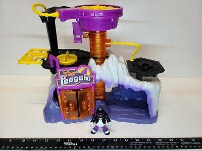 Imaginext Penguin Lair Headquarters w/Accessory Figures Batman DC Playset