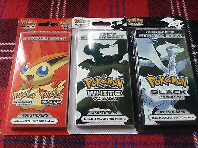 Pokemon Black & White Sticker Books - Exclusive Foils - Reshiram Zekrom Victini