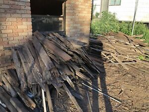 Free hardwood timber palings (Firewood)