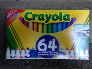 Crayola 64 Washable Markers, 3 different kinds