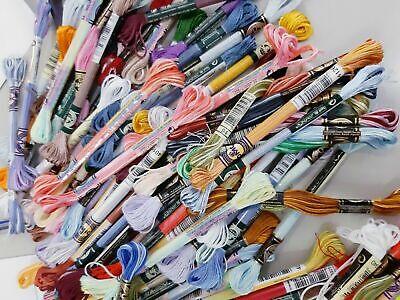 AUTENTICO LOTE 100 madejas de hilo DMC bordar mouline liso brillante multicolor