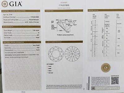 2.04 CTW GIA Round Brilliant SI1 Diamond Ring Halo Desighn White Gold  1
