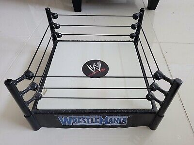 "WWF WWE WRESTLING WRESTLEMANIA RING 13"" x 13"" SPRING LOADED BOUNCE 2010 MATTEL"
