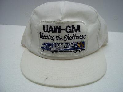 UAW GM Meeting Challenge Trucker Hat White Adjustable