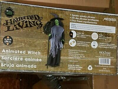 Gemmy 2018 Life Size Animated Witch Halloween Prop New Condition