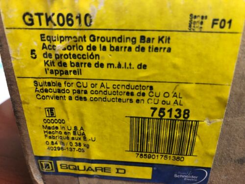 New in Box Square D GTK0610 - Grounding Bar Kit