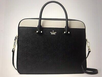 "New-Kate Spade New York 13"" Saffiano Leather  Laptop Bag-Black Dusk -NWT 13 Womens Laptop Purse"