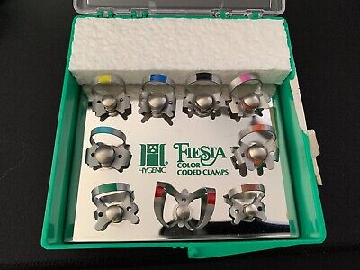 Coltene Whaledent Hygienic Fiesta 9 Winged Color Coded Clamp Pack Assort H09966