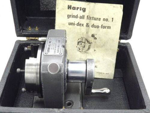 "Harig Grind All Fixture No. 1 Center Height 3.000""  with Case No V Block"