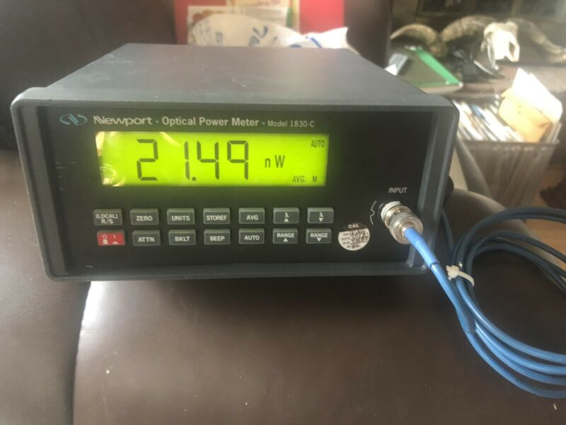 Newport 1830C Optical Power Meter With Power Cord