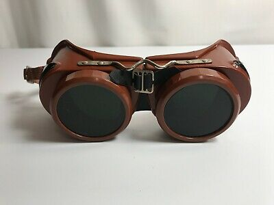 Vintage Welding Goggles Type B Welsh Mfg. Co. Steampunk Glasses Made In Usa