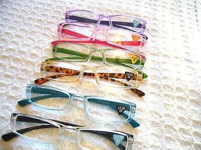 READING GLASSES LADIES MEN'S OLDER KIDS  COLORFUL GLASSES (1.25 - 3.00) R106    (Kids Reading Glasses)