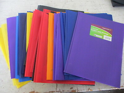 Wexford 2 Pocket Poly Folder With Prongs Lot Of 16
