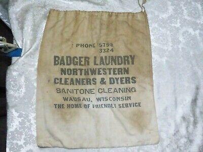 1930s Handbags and Purses Fashion VINTAGE 1930's BADGER LAUNDRY BAG WAUSAU, WI $29.99 AT vintagedancer.com
