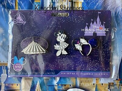 Pin Set Minnie Mouse: The Main Attraction SPACE MOUNTAIN January 2020 In Hand