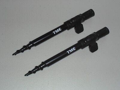 Alarms 16mm Diameter Fishing Buzz Bar TMC 2 x Aluminium Bank Sticks 20-35 cms Rod Rests