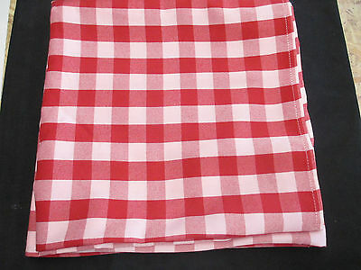 "CAROUSEL Red & Pink Square Gingham Tablecloth 61"" x 61"""