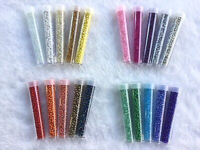 Wholesale Bulk Lot In Bottle 11/0 Glass Seed Beads 20 AWESOME COLORS Free Ship