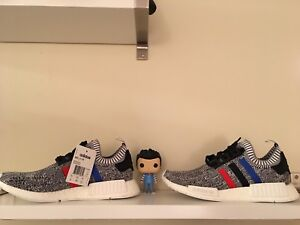 Adidas nmd size 10 DS tricolor grey Yeezy boost nike champion