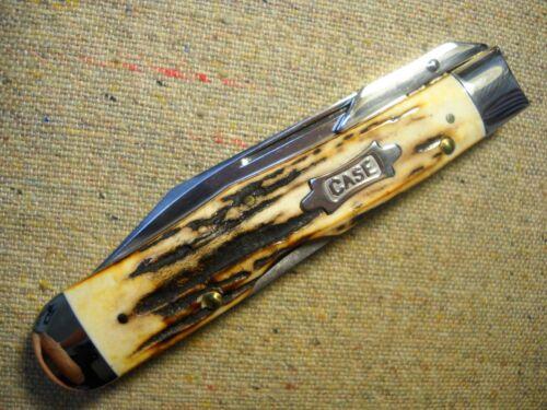 W.R. Case & Sons Classic Cheetah Knife flawless India Sambar Stag Classic