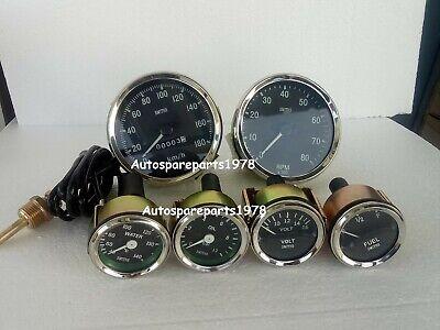 Smiths-52mm-Kit- Temp-Oil Fuel Volt Gauge Kmph Speedometer Tachometer-Replica
