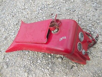 Massey Harris Pony Tractor Mh Dash Panel W Tool Box Door Cover Wire Harness