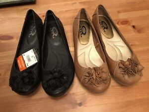 Leather flats - new tags attached