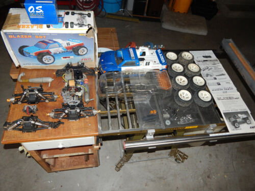 Vintage Ofna SST Blazer Offroad Truck 1/8 Scale OS Max Hitec R/C Parts Lot