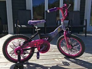 """16"""" Girl's Tinkerbell bicycle with training wheels"""