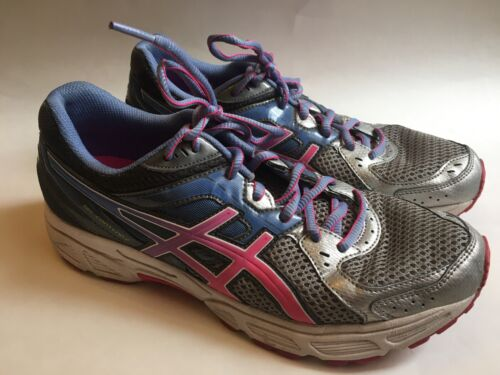Asics Women's Sneakers Gel Contend 2 Size 10 Brand Lots Of Wear Left! Gray Pink