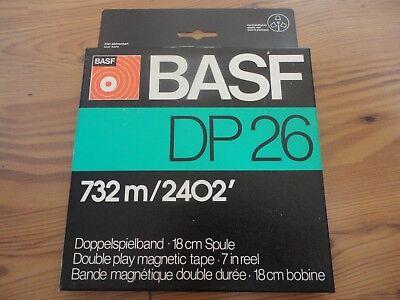 18 Ton (1xOriginal BASF DP26 Tonband 732m Doppelspielband auf 18cm Spule NOS/OVP)