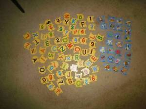 retro educational puzzles and cards - alphabet and number