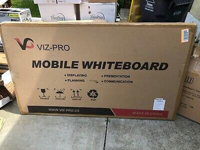 Viz-pro Double Sided Dry Erase Board Office Whiteboard Magnetic Mobile 60x36