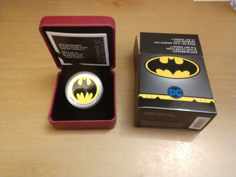 Barbados Pure Silver Glow-in-the-Dark Coin - The Bat Signal™ (2019) by RCM
