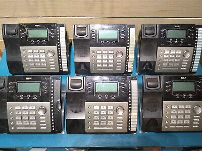 Lot Of 6 - Rca Business Expandable 4 Line Telephone Phone 25424re1 W Caller Id