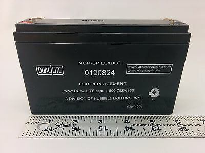 Dual Lite 0120824 Approved 6-volt 7-7.2ah 3.4-amp For 90-minute New Sla Battery